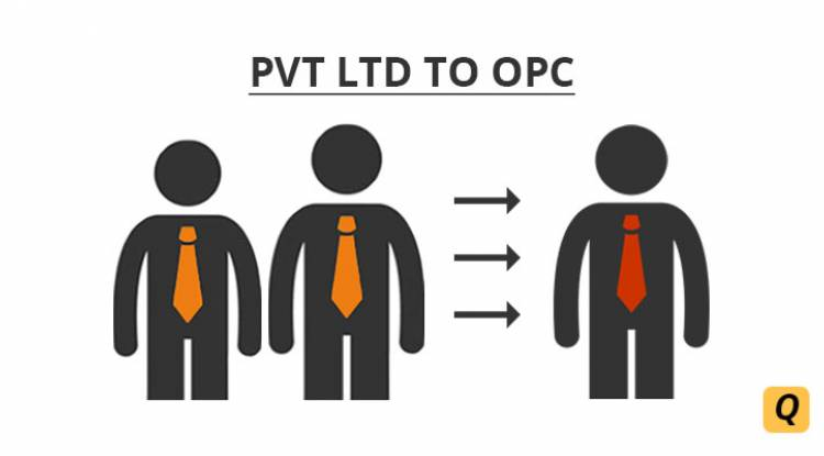 WHAT ARE THE FORMALITIES AFTER A PRIVATE LIMITED COMPANY IS CONVERTED TO ONE PERSON COMPANY?