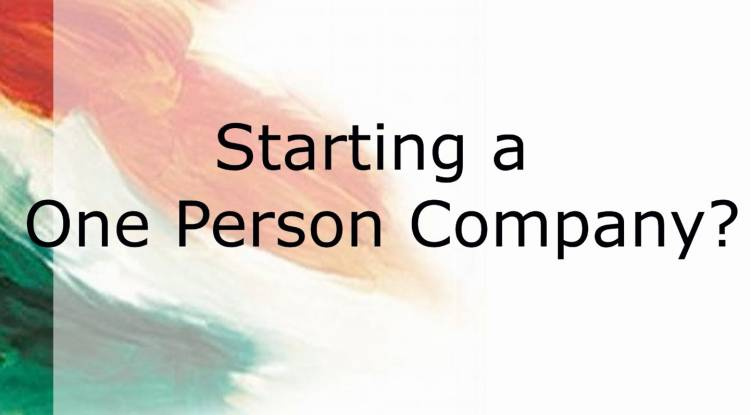 One Person Company (OPC)