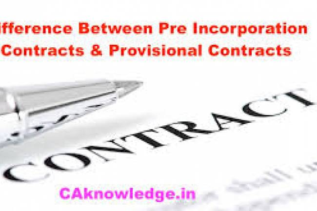 Pre-Incorporation Contracts & Provisional Contracts
