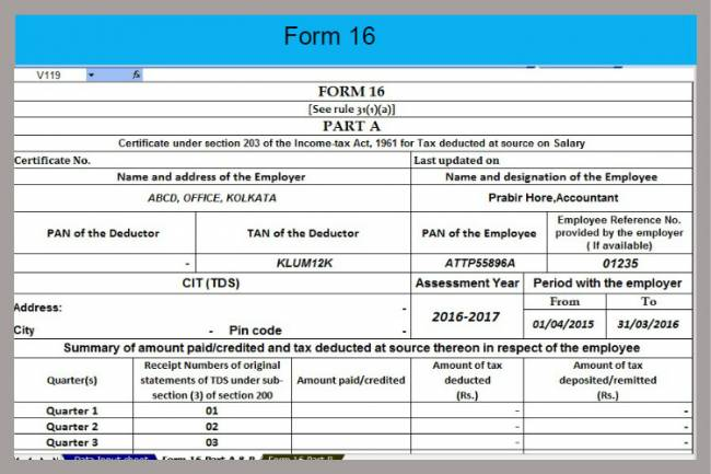 Do I need form 16 for filling ITR ONLINE?
