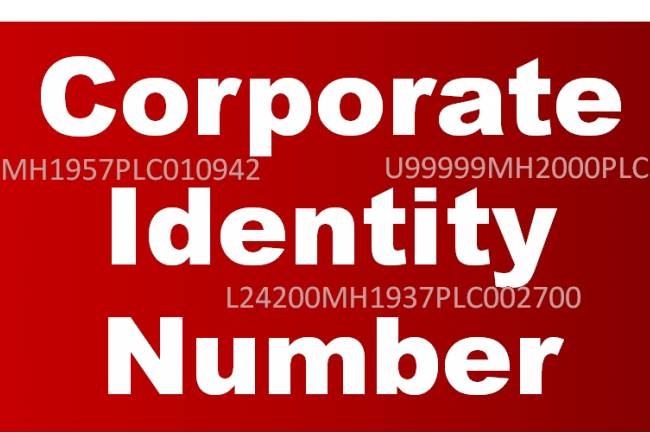Corporate Identification Number or Company CIN No. in India
