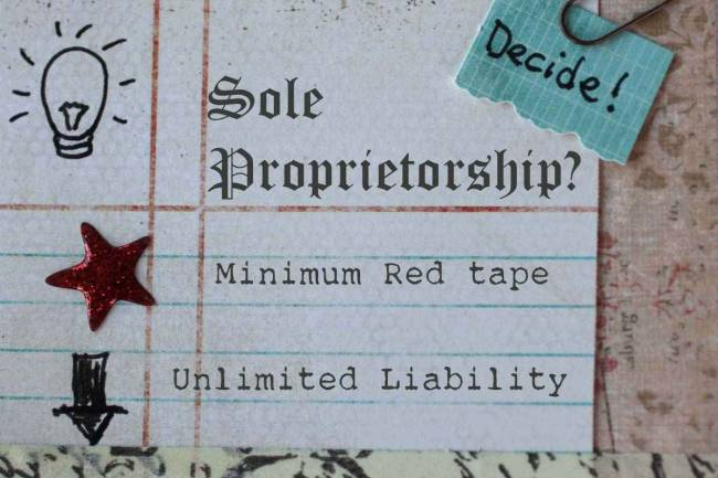 Disadvantage of Sole Proprietorship Firm Registration in India