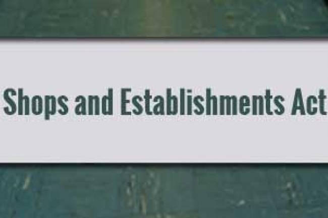 Shops And Establishments Act License Renewal