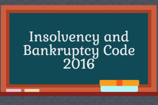 Applicability of Insolvency and Bankruptcy code, 2016