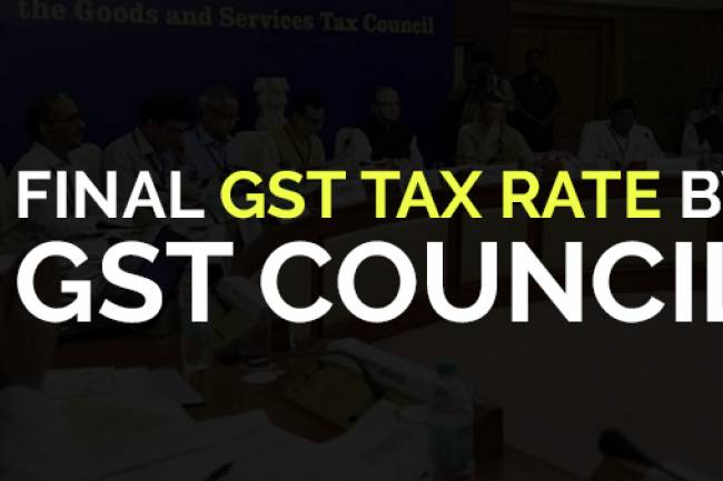 Latest GST Tax Rates in India – by GST council
