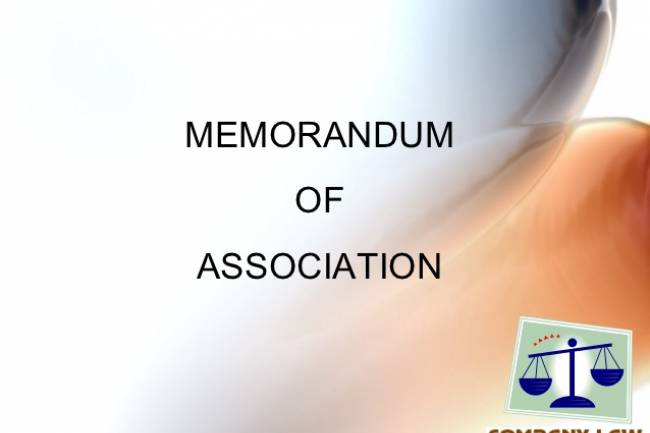 Format of Memorandum of Association (MOA) of Nidhi Company – Download the PDF Copy