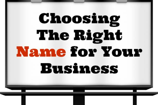 Choose a Right Name for Your Startup