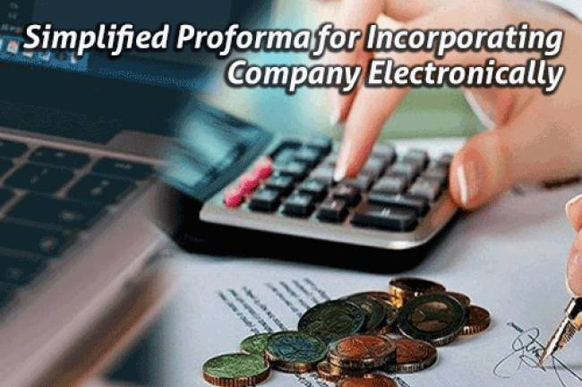 Simplified Proforma for Incorporating Company Electronically (SPICe)