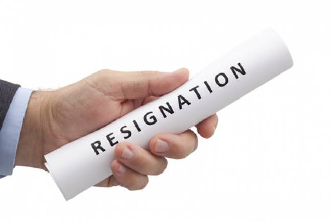 Resignation of Director in public limited company