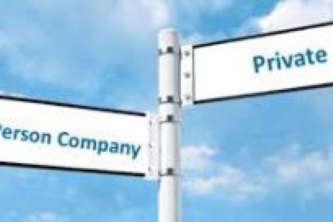 Procedure of conversion of One Person Company into a Private Limited Company