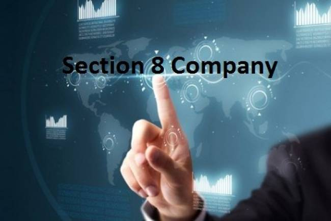 How taxation works under Section 8 company?