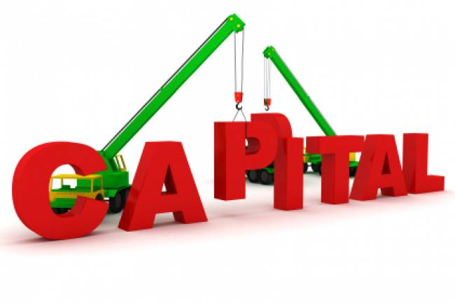 What is the difference between paid-up capital and authorized capital?