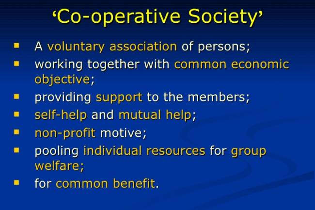 What is the benefit of a cooperative society in India over a private firm?