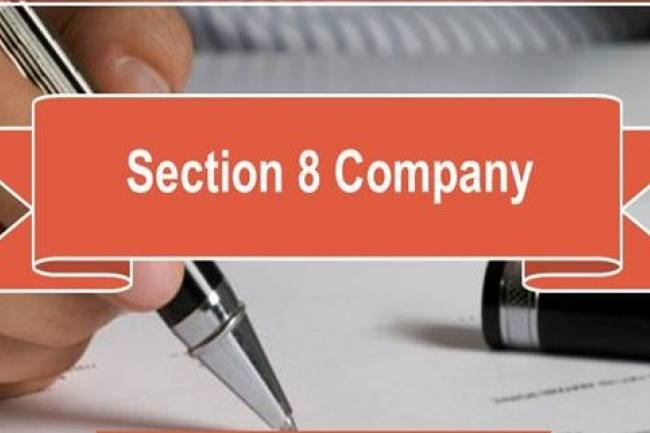 What are the requirements and procedures to register a section-8 company?